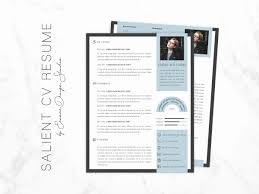 One Page Resume Format Awesome Simple Modern Cv Resume Word Template