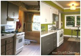 Best Painted Kitchen Cabinets Before And After Painting Kitchen Cabinets  Spray Painting Kitchen Cabinets Before Design Ideas