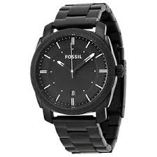 fossil men 039 s machine fs4775 black stainless steel analog image is loading fossil men 039 s machine fs4775 black stainless