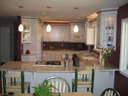 Two Tone Kitchen Cabinets Brown And White Picture On HOME AND INTERIOR