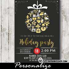 Company Holiday Party Invitations Vintage Christmas Decorations Ornament