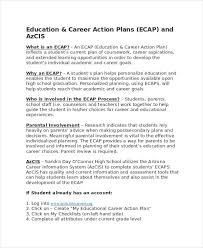 Example Of Career Aspiration Career Action Plan Template 14 Free Sample Example Format