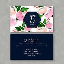 Watercolor Floral Wedding Anniversary Invitation Template
