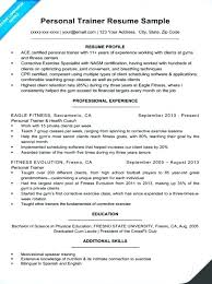 Personal Trainer Resume Template New Personal Training Resume Sample Letsdeliverco