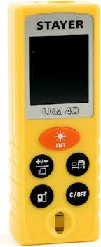 Лазерный <b>дальномер STAYER LDM-40</b> [<b>34956</b>] купить в интернет ...