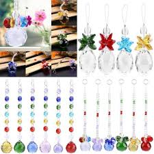 rainbow suncatcher chandelier glass crystals lamp prisms parts hanging pendant e hover to zoom
