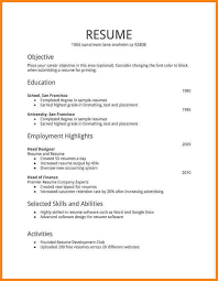Resume Templates For First Job Midlandhighbulldog Com
