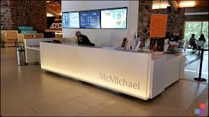 mcmichael art gallery reception desk