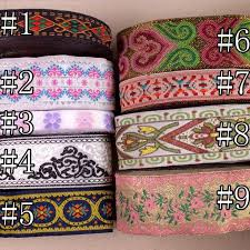 5/10 <b>Yards</b> Vintage Floral <b>Embroidered</b> Jacquard Ribbon Trim ...