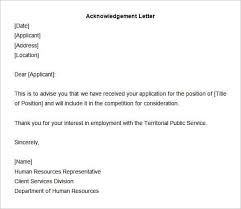 Acknowledgement Of Letter Received 12 Sample Acknowledgement Letters Writing Letters Formats