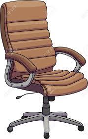 brown leather office chair. Plain Leather Vector  Illustration Of A Brown Leather Office Chair Swivel  Revolving Chair Throughout Brown Leather Office Chair