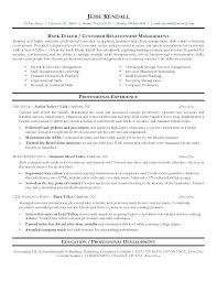 Bank Resume Template