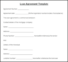 Private Loan Agreement Template Simple Credit Personal