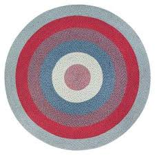 gray blue and red blend 4 ft round jute area rug new anji mountain