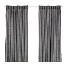 Unique Black And White Curtains Ikea Aina 1 Pair To Design Decorating