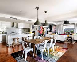 Kitchen  Mesmerizing Open Plan Kitchen Living Room Ideas Contemporary Open Plan Kitchen Living Room