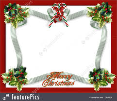 templates christmas border ribbon stock illustration i image and illustration composition for christmas card background party invitation template border or frame candy canes ribbons holly and copy