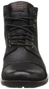 levi s maine black leather mens lace up mid ankle leather boots