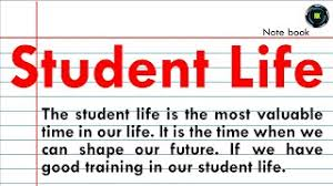 essay on student life in english you
