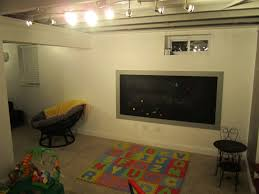 basement track lighting. Inexpensive Basement Finishing Ideas For Your Home Design: Simple Remodeling With Track Lighting K