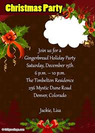 Photo Christmas party invitation