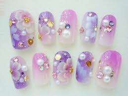 ネイル ピンク 水色 紫