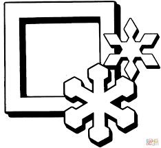 Vierkant Met Sneeuwvlokken Kleurplaat Gratis Kleurplaten Printen
