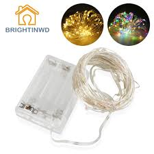 Tiny Battery Operated Lights 10m Tiny Led Garland String Fairy Light Battery Operated Copper Silver Led Flasher Christmas Tree Holiday Wedding Party Light String Fairy Lights