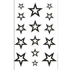 Módní Dámské Vodotěsné Tetování Nálepky Hvězda Vzor At Vova