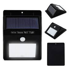 Bright 4 LED Wireless Solar Powered Motion Sensor Wall Light Led Solar Led Wall Lights