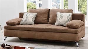 Schlafsofa Jamaika Sofa In Cognac Braun