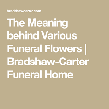 the meaning behind various funeral flowers bradshaw carter funeral home flores funerarias predestinado