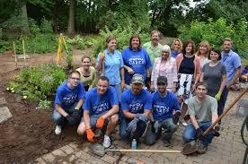 new rain garden at clark botanic garden