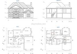 two story house plans free cad blocks architectural house plans free pictures