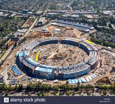 huge construction site office building apple campus ii or apple campus 2 or ac2 architect norman foster cupertino apple cupertino office