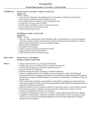 Family Advocate Resume Samples | Velvet Jobs