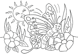 Spring Coloring Pages For Toddlers Easy Spring Coloring Pages For