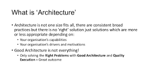 ... 6. What is Architecture ...