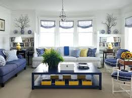 Navy Blue Living Room Amazing Fascinating Interior Design Blue And Yellow Bedroom Color