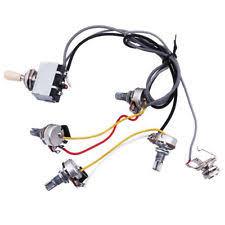 guitar wiring harness ebay Wiring Harness Guitar guitar wiring harness prewired 2 volumes 2 tones 4 500k pots for lp guitar c5y7 wiring harness guitar gibson es-137