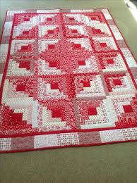 Best 25+ Log cabin quilts ideas on Pinterest | Patchwork patterns ... & Beautifully designed red and white log cabin quilt. Adamdwight.com
