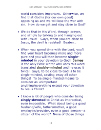 calvary chapel of san antonio james page created what about being a good husband wife father mother a good employee provider even a good person a citizen of the world none of those things