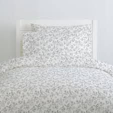 white and gray bird cage duvet cover
