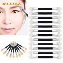 100 marca de calidad superior 12 unids maquillaje sombra de ojos pincel delineador de ojos de esponja herramienta aplicador de