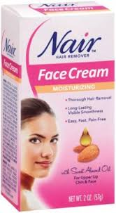nair hair removal cream for face with special moisturizers