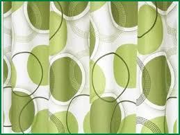 bright green shower curtain