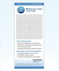 Amsler Chart Working Distance Amsler Grid Used For Testing For Age Related Macular