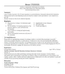 Sample Teacher Assistant Resume Best Of Special Education Teacher Resume Sample Yomm