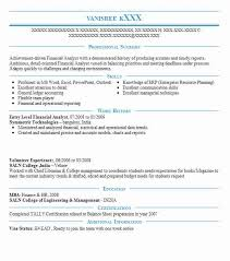 resume of financial analyst entry level financial analyst objectives resume objective livecareer