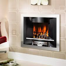 Crystal Fires Emerald Gem Inset Hole in the Wall Gas Fire